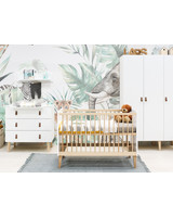 BOPITA INDY 3-PART BABY ROOM WHITE/NATURAL - CUPBOARD 3-DOORS