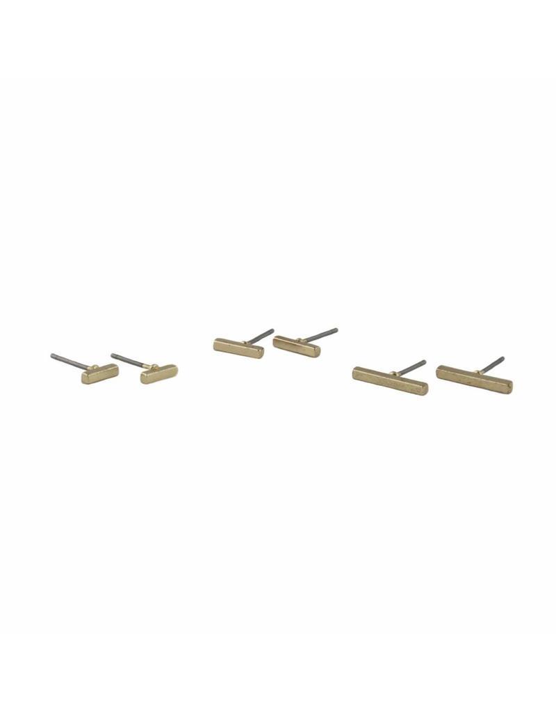 Oorbel - Gold bar (m)