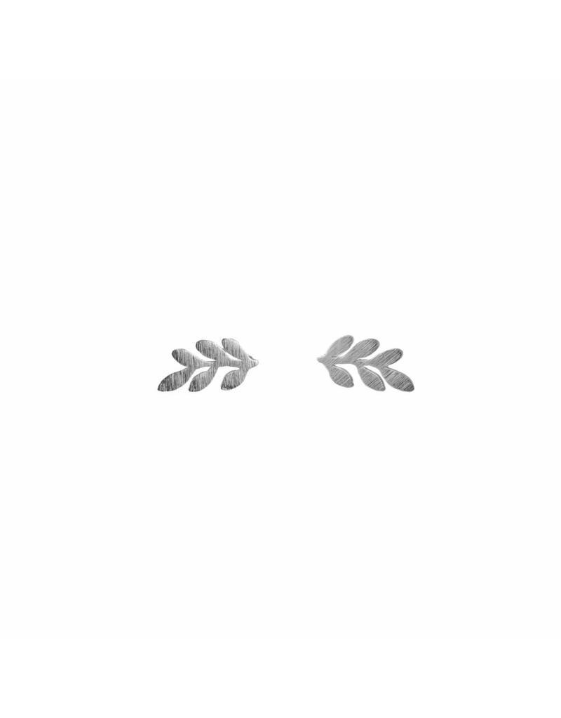 Oorbel - Zilveren leaf