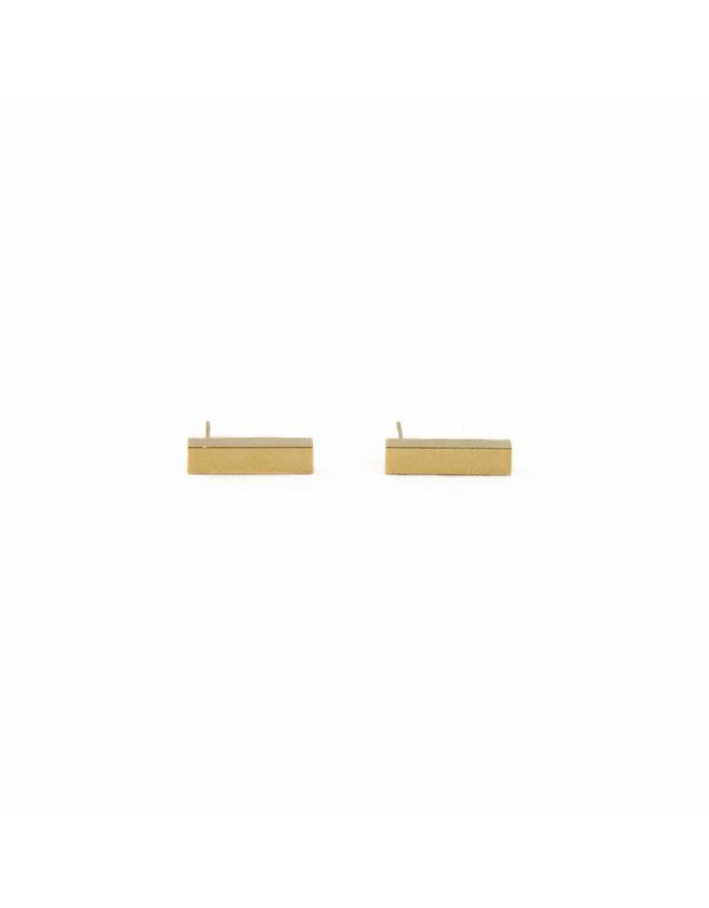 Oorbel - Gouden bar