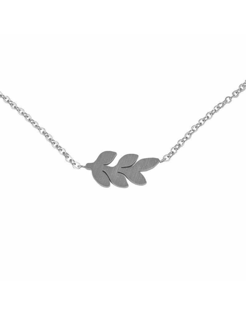 Ketting - Zilveren leaf
