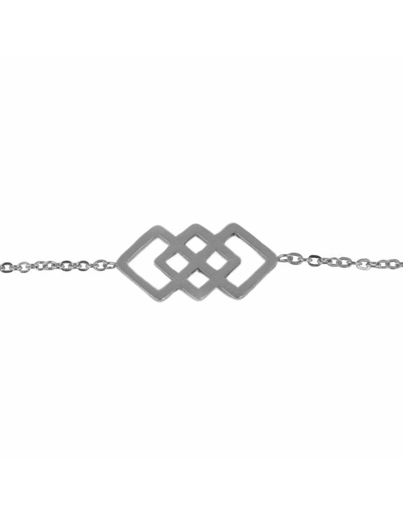 Armband - Zilveren squares