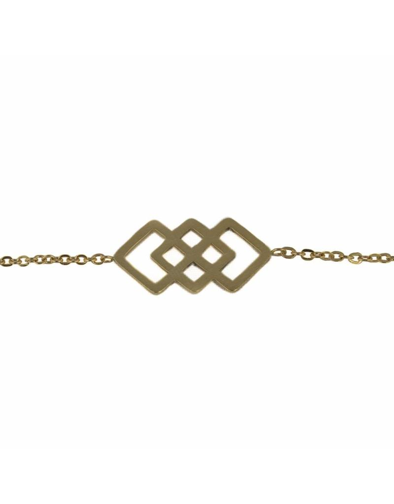 Armband - Golden squares