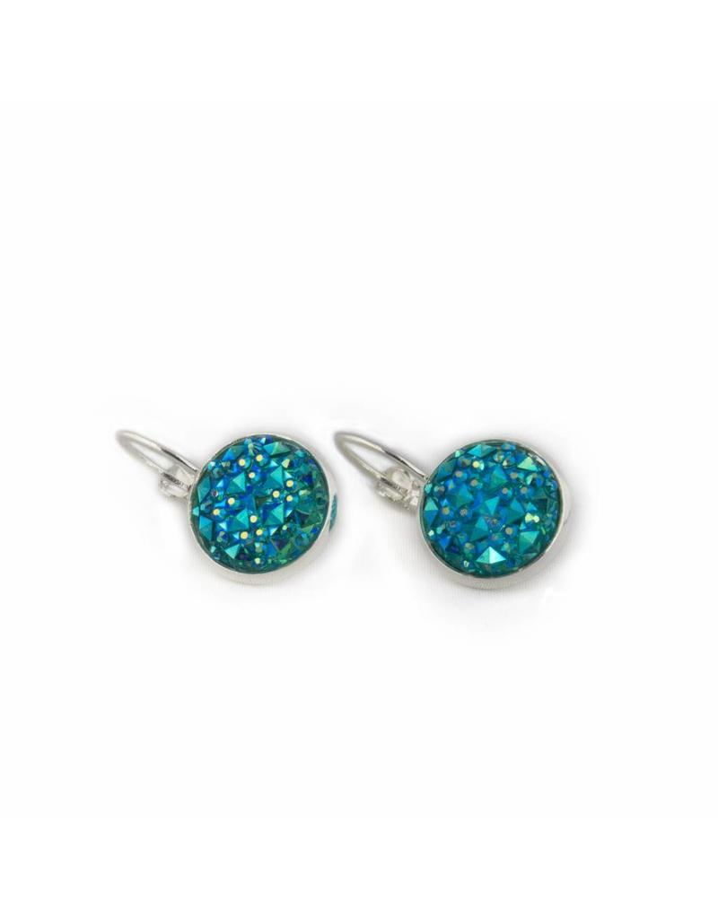 Oorhangers - Blue sparkle