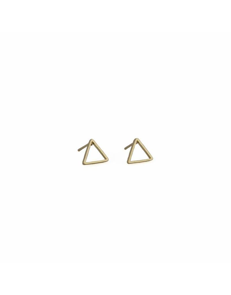 Oorbellen - Roségold triangel