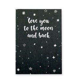 Sieraden wenskaart - Love you to the moon and back