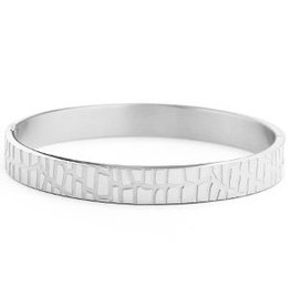 Bangle - Silver crocodile