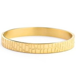 Bangle - Gold crocodile