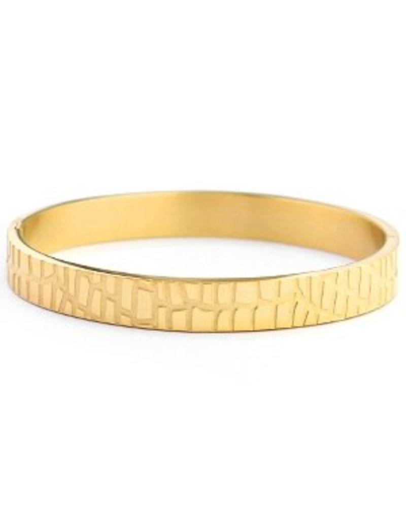 Bangle - Gold crocodile