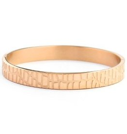 Bangle - Roségold crocodile