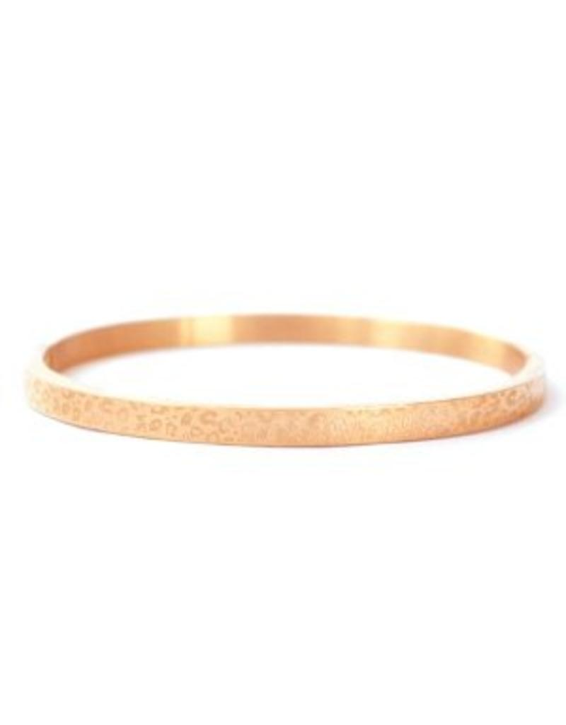 Bangle - Roségold leopard