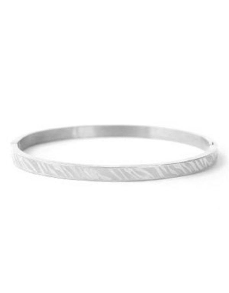 Bangle - Silver zebra