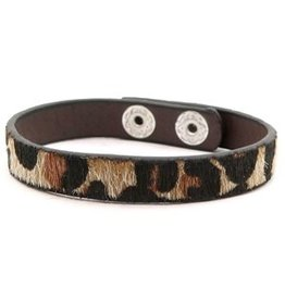 Armband - Brown leopard