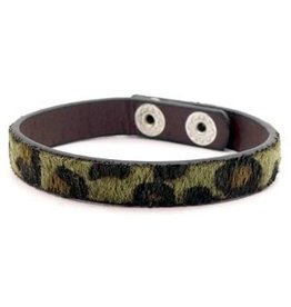 Armband - Green leopard
