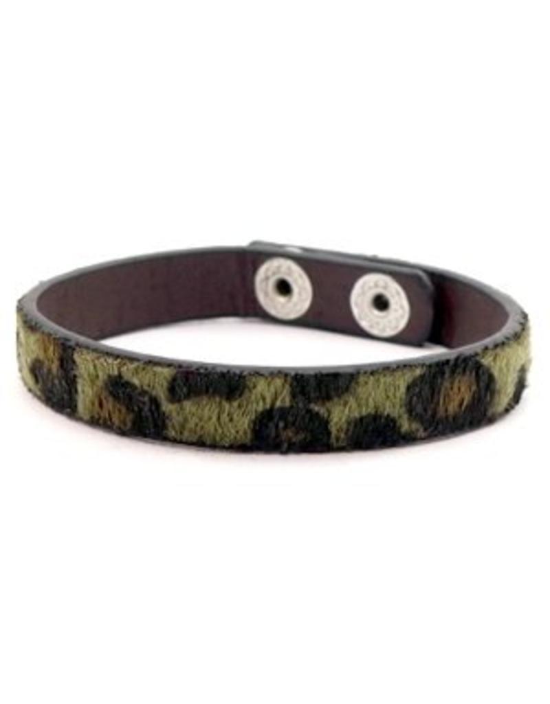 Armband - Green leopard