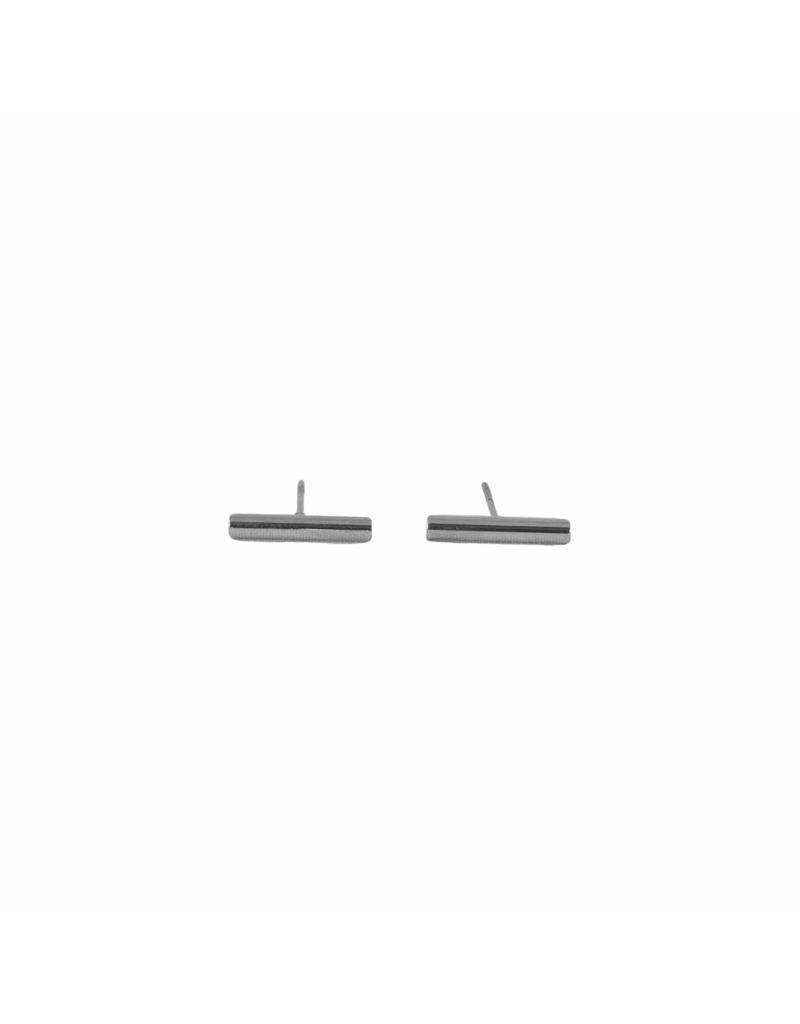 Oorbellen - Zilveren staafje