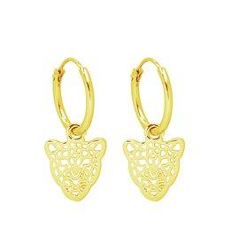 Oorbel - Gold leopard