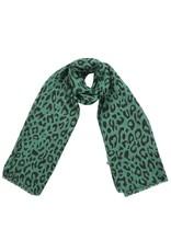 Sjaal - Green leopard