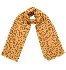 Sjaal - Yellow leopard