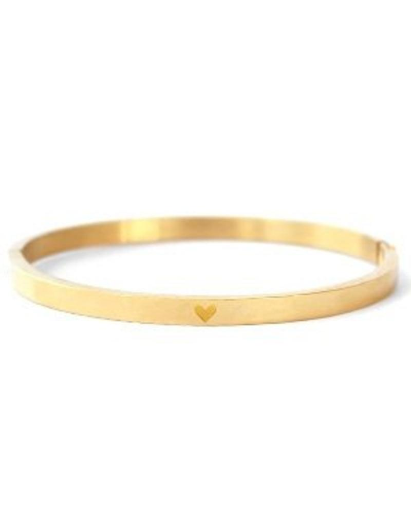 Bangle - Gold heart