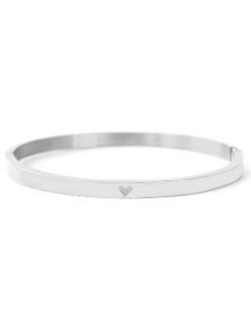 Bangle - Silver heart