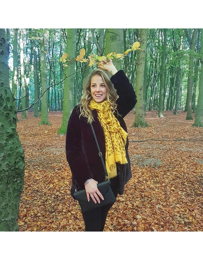 Sjaal - Yellow leopard