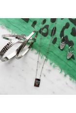 Bangle - Silver crocodile