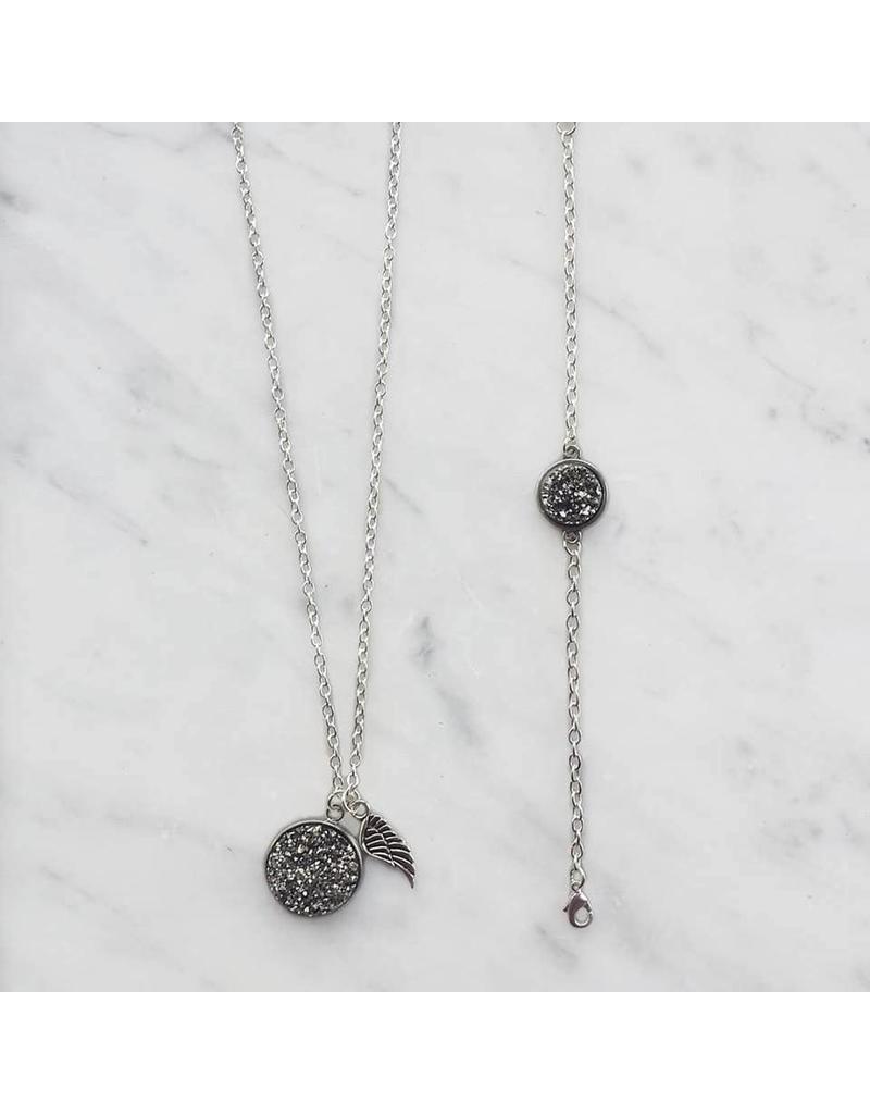 Armband - Grey stone