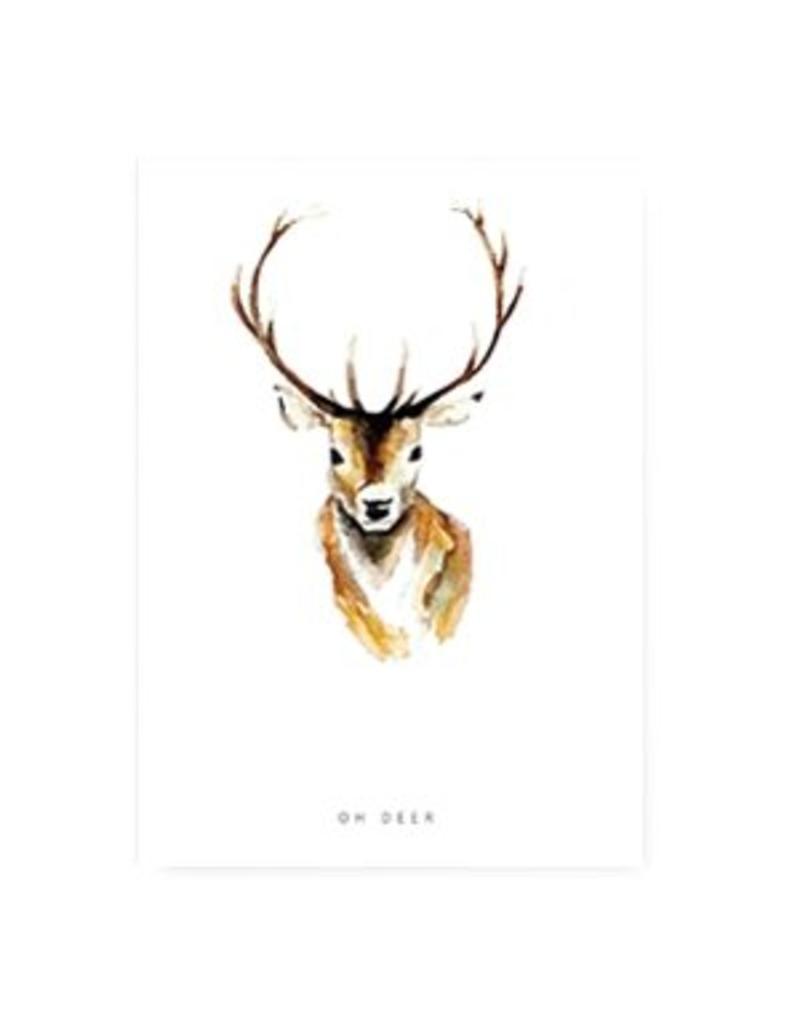 Sieraden wenskaart - Oh deer