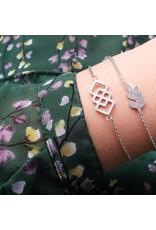Armband - Zilveren leaf