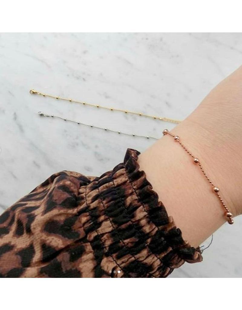 Armband - Silver dots