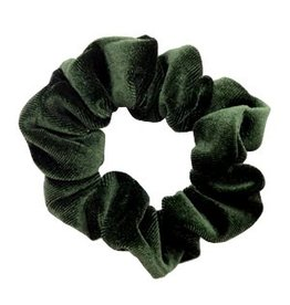 Velvet scrunchie - Forest green