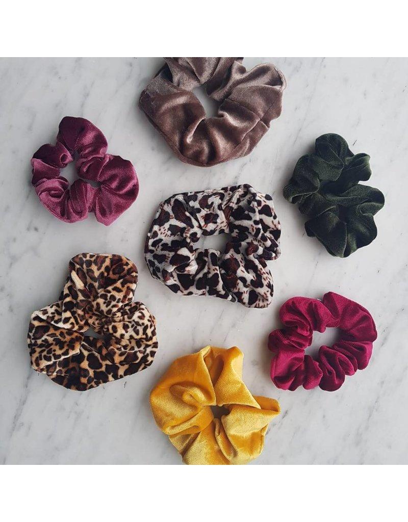 Velvet scrunchie - Brown