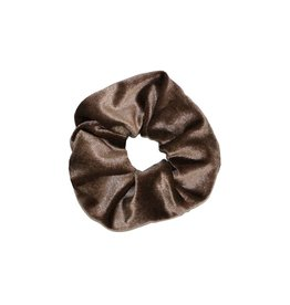 Velvet scrunchie - Brown