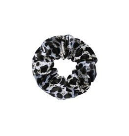 Velvet scrunchie - Grey leopard