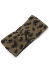 Gebreide haarband - Luipaard
