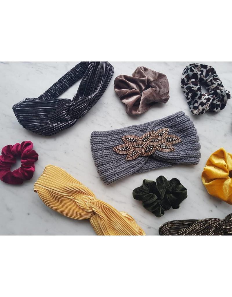 Gebreide haarband - Grijs