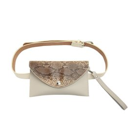 Belt bag - Beige snake