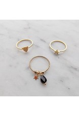 Ring - Gold beads