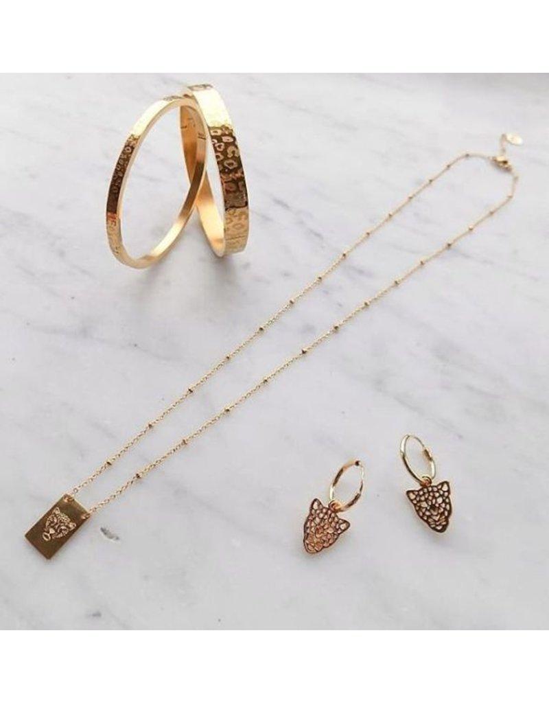 Oorbellen - Gold leopard