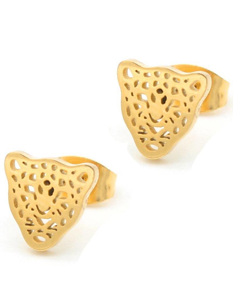 Oorbellen - Panter goud