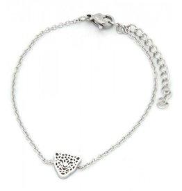 Armband - Panter zilver