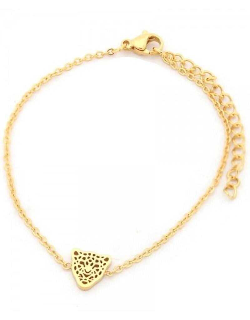 Armband - Panter goud