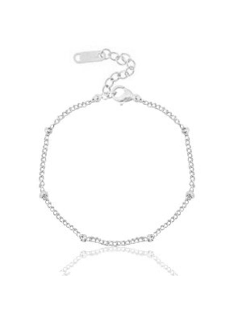Armband - Silver ballchain