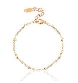 Armband - Roségold ballchain