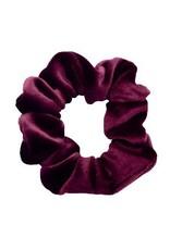 Velvet scrunchie - Dark purple