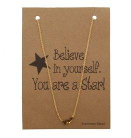 ketting - gold stars