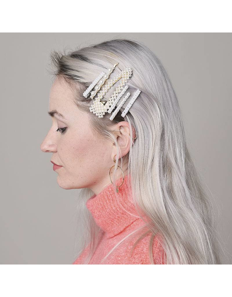 Driehoek haarspeld parel