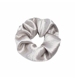scrunchie - silver satin