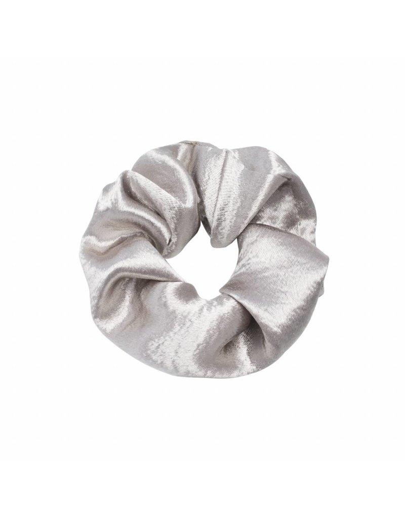 Satin scrunchie - Zilver
